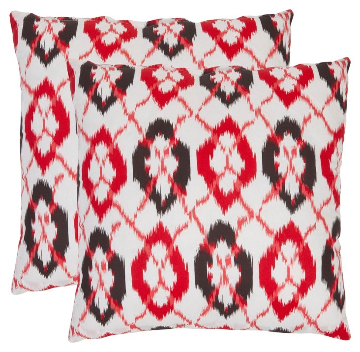 S/2 Downing Pillows, Red