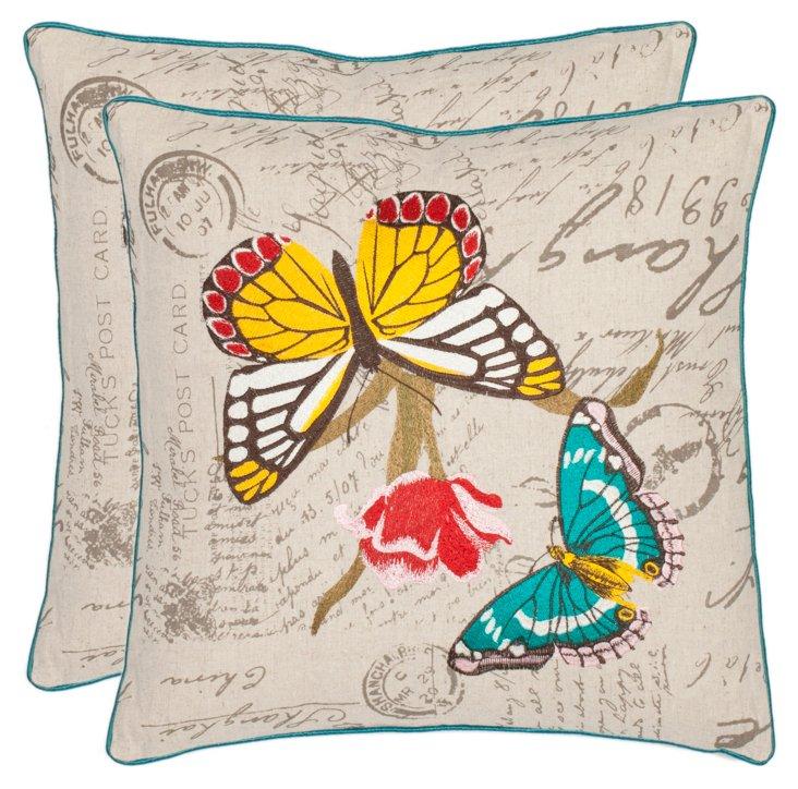 S/2 Anneli 18x18 Pillows, Multi