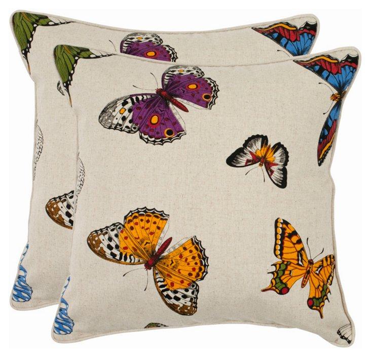 S/2 Nova 22x22 Pillows, Ivory
