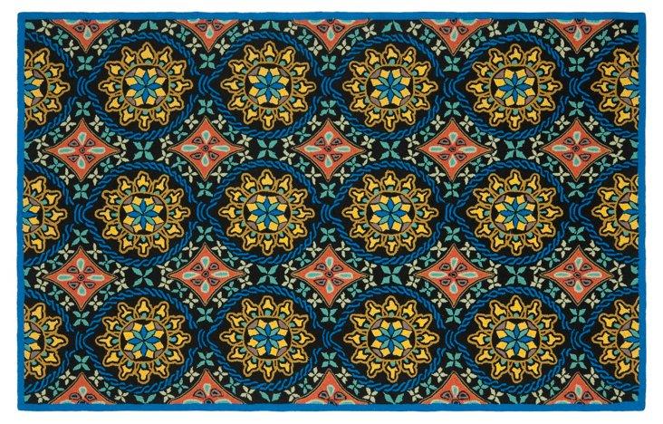 Amanda Outdoor Rug, Blue/Multi