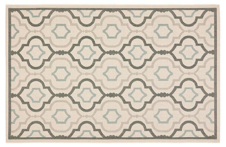 Basin Outdoor Rug, Beige