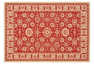 Wyatt Outdoor Rug Red Cream Outdoor Rugs Rugs One Kings Lane