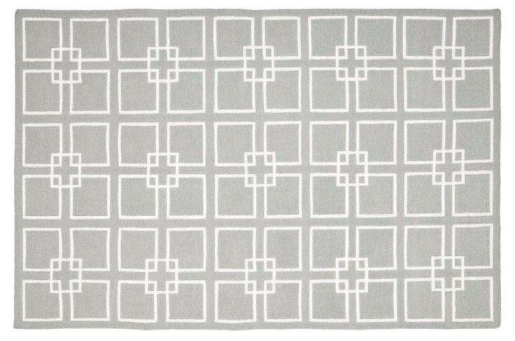 Martha Stewart Dhurrie, Gray/White
