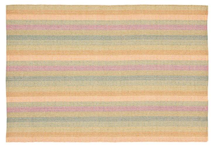 Justine Flat-Weave Rug, Peach/Multi