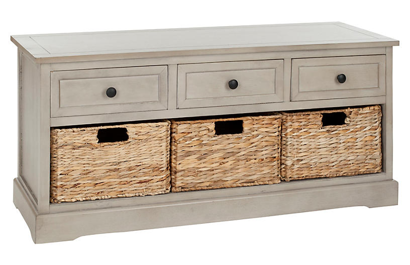 Arlington 3-Drawer Storage Unit, Taupe