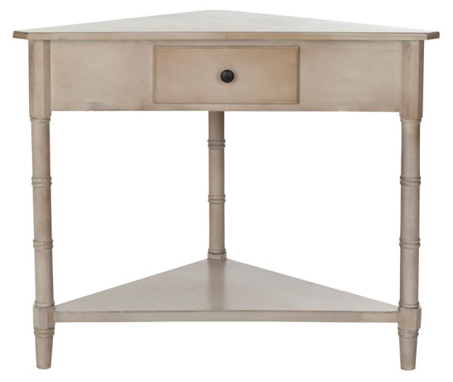 Geneva Corner Table, Taupe