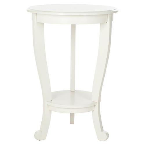 Wheaton Pedestal Side Table, White