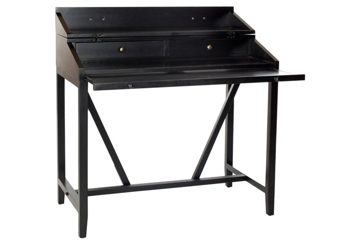Elgin Writing Desk, Black