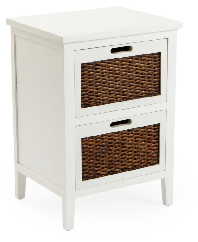 Griffin Nightstand, White