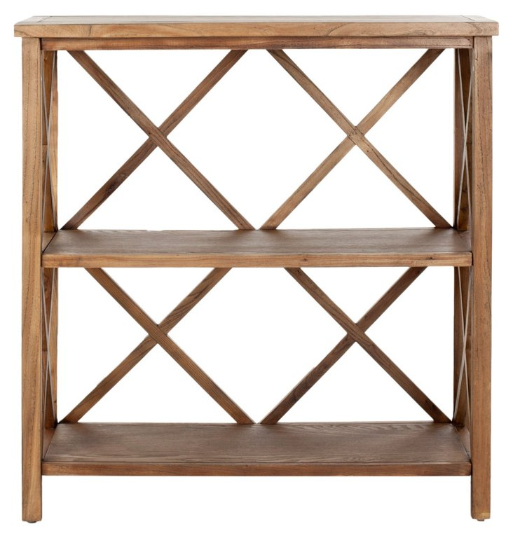 Hadley Open Bookcase, Natural