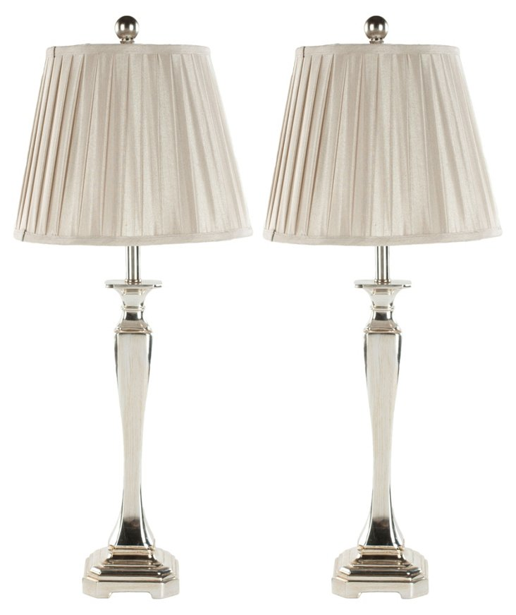 Laura Table Lamp Set, Coffee