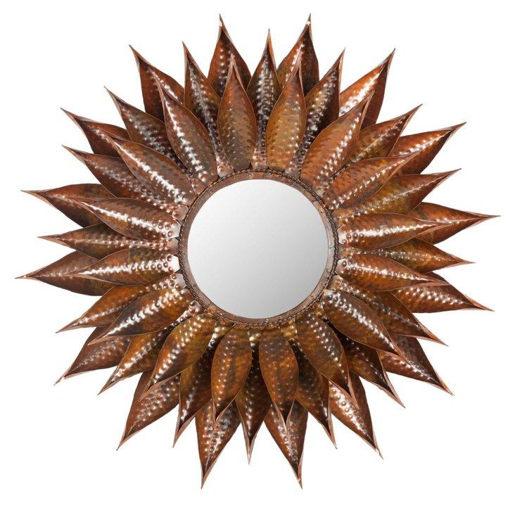 Maria Wall Mirror, Burnt Copper