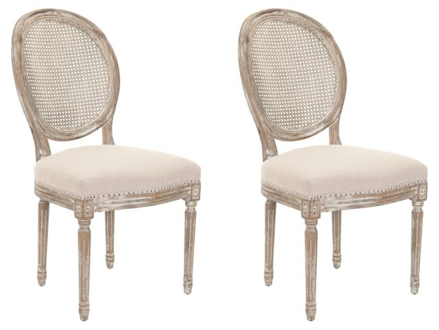 Houglin Side Chairs, Pair