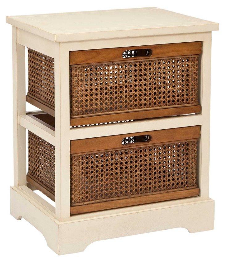 Jackson 2-Drawer Storage Unit, White