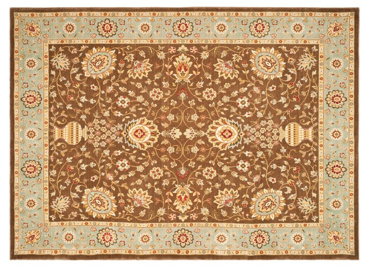 LaBarre Rug, Brown/Light Blue