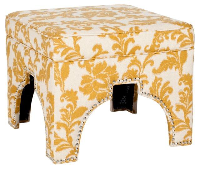 Pearce Ottoman, Marigold/Ivory