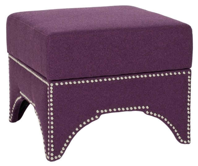 Colton Storage Ottoman, Purple