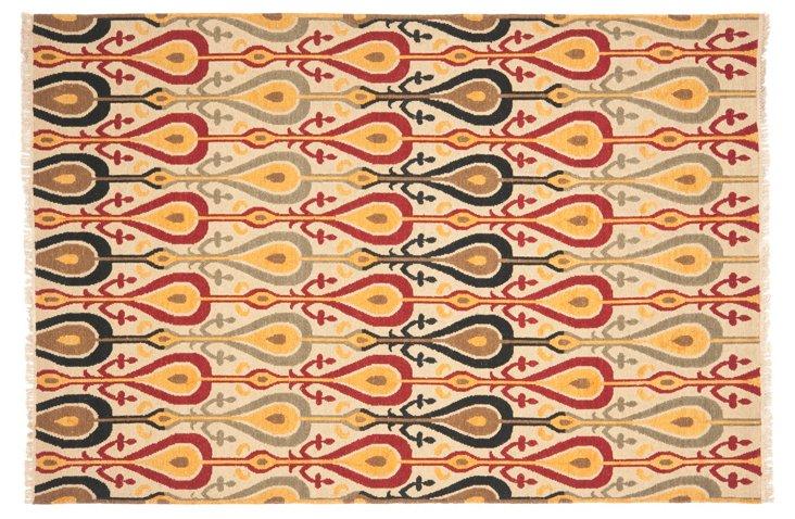 9'x12' Silas Soumak Rug, Beige/Multi