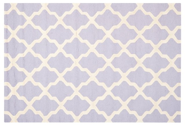 Mulberry Rug, Lavender/Ivory