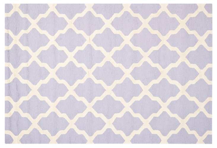 """2'6""""x6' Mulberry Rug, Lavender/Ivory"""