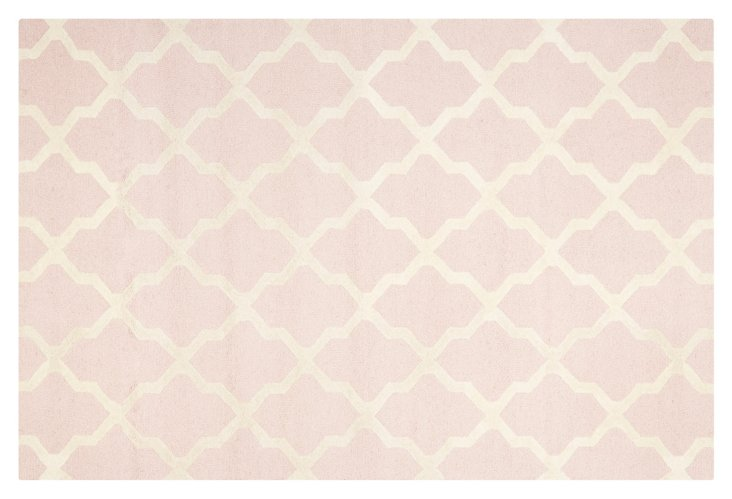 Mulberry Rug, Light Pink/Ivory