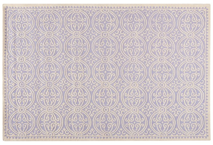Jay Rug, Lavender/Ivory