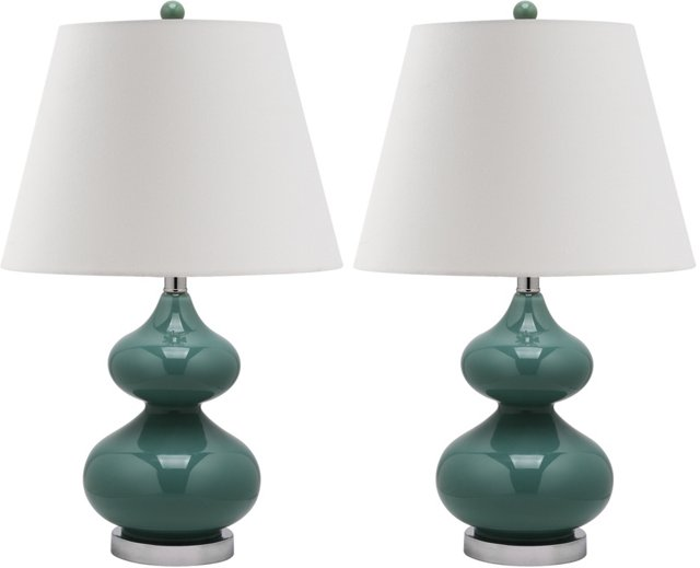 Bethany Table Lamp Set, Marine Blue
