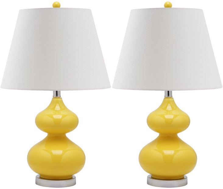 Bethany Table Lamp Set, Yellow
