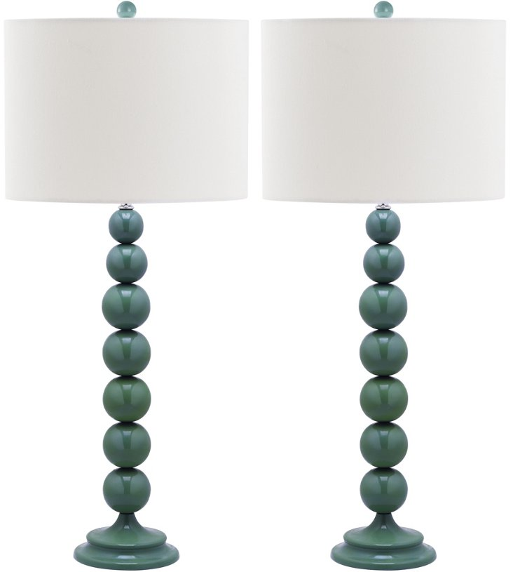 Knot Table Lamp Set, Marine Blue