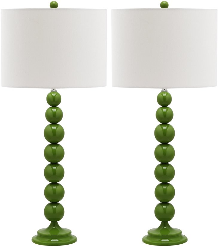 Knot Table Lamp Set, Green