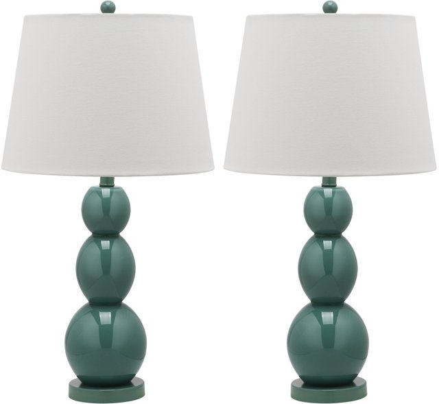 Brent Table Lamp Set, Marine Blue