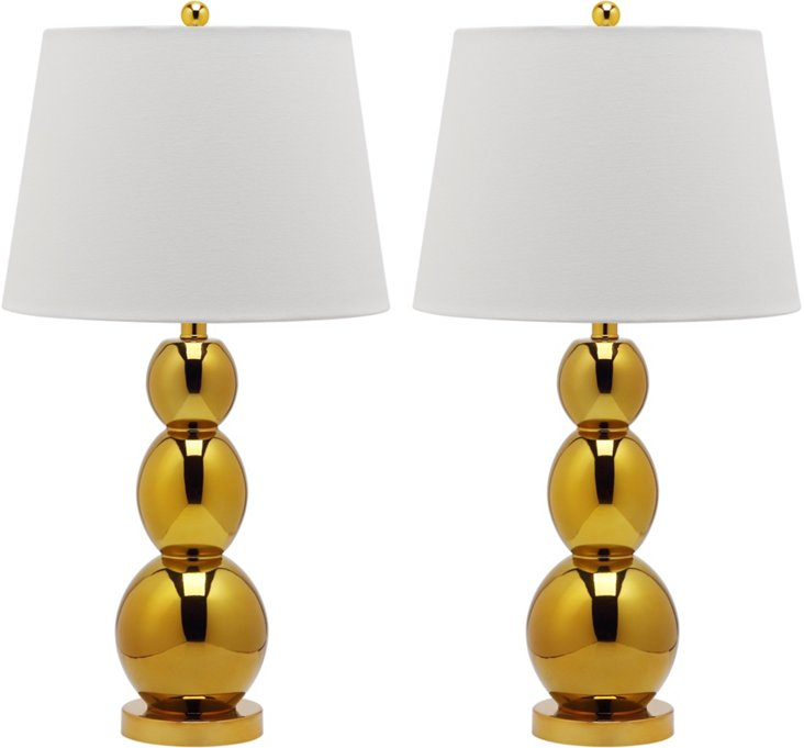 Bailey Table Lamp Set, Gold