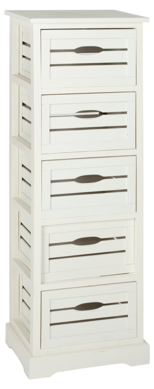 Sayre 5-Drawer Cabinet, Distressed Ivory