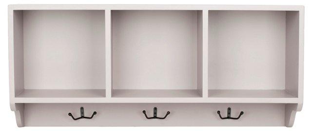 Oakdale Wall Shelf, Light Gray