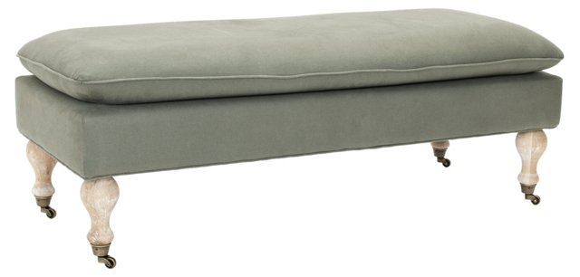 Nikolette Pillow-Top Bench, Granite