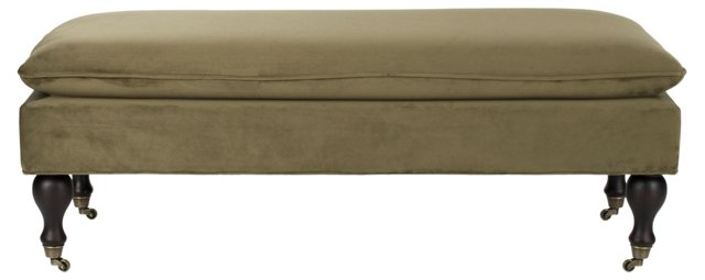 Clara Pillowtop Bench, Spruce