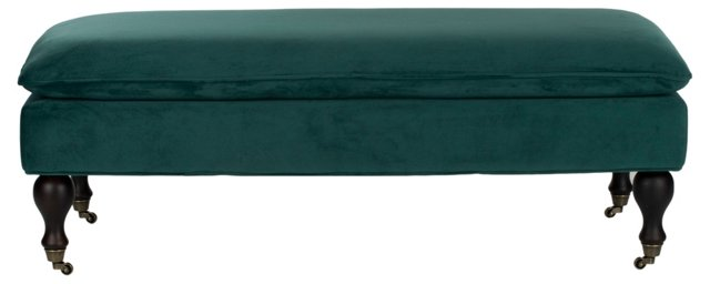 Clara Pillowtop Bench, Marine