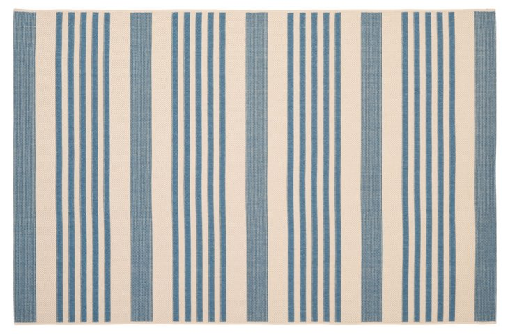 Keelan Outdoor Rug, Denim