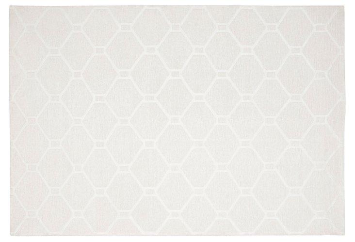 Martha Stewart Flat-Weave Rug, White