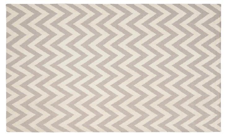 9' x 12' Noemi Dhurrie, Gray/Ivory