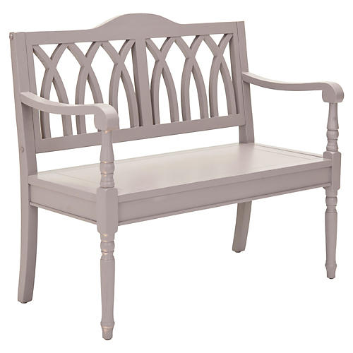 Outdoor Jasper Bench, Gray