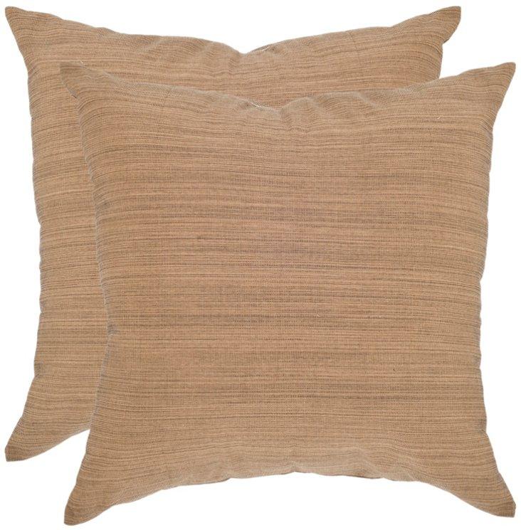 S/2 Tonal 20x20 Pillow, Beige