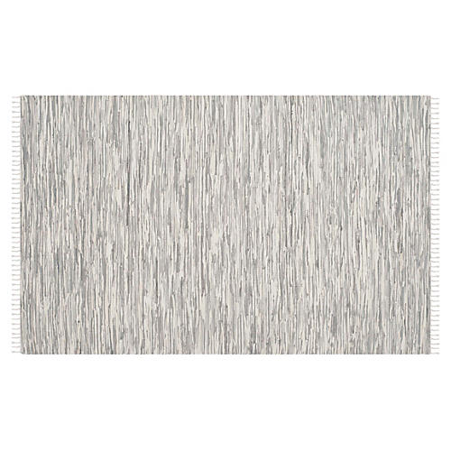 Molly Flat-Weave Rug, Silver