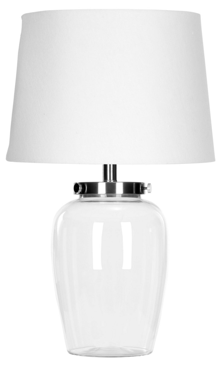 Melrose Table Lamp, Clear Glass
