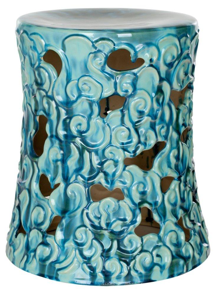 Tessa Garden Stool, Blue
