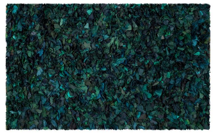 Cora Shag Rug, Green/Multi
