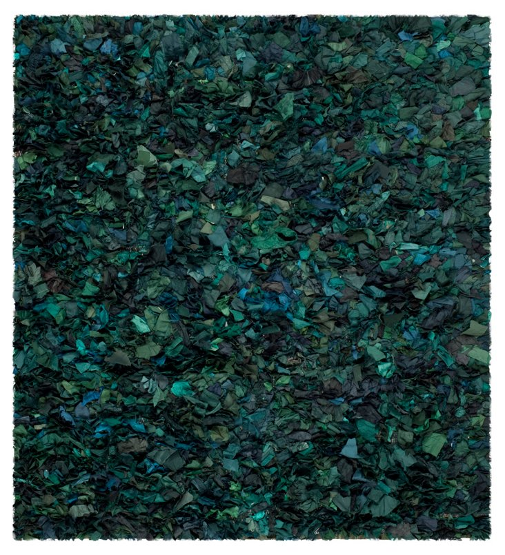 8'x8' Cora Shag Rug, Green/Multi
