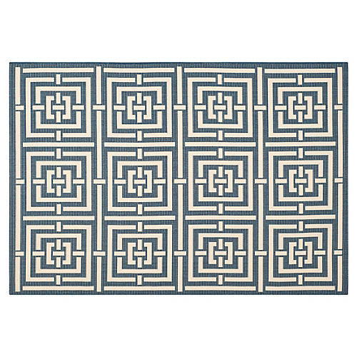 Rufus Outdoor Rug, Navy
