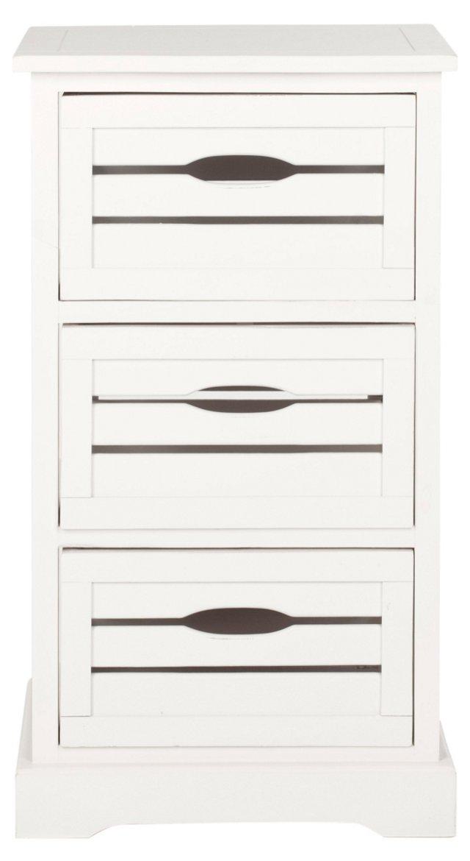 Catherine 3-Drawer Cabinet, White