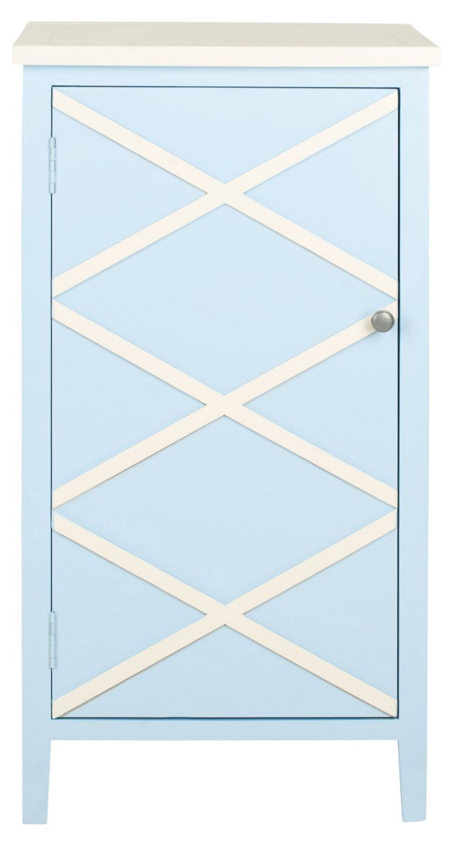 Sawyer Cabinet, Light Blue/White